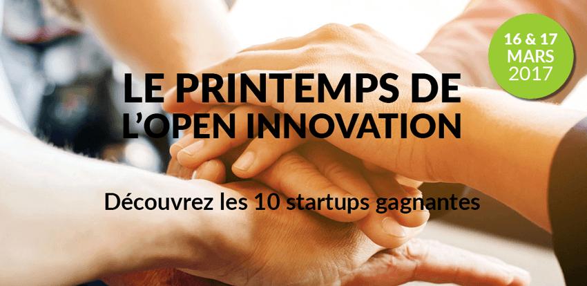 Les 10 startups gagnantes du Printemps de l'Open Innovation
